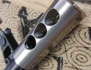 Circle 10 AK 3 Port Muzzle Brake Titanium - 24mm