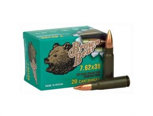 Brown Bear 7.62x39mm - 123gr FMJ - 500 Round Case