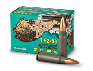 Brown Bear 7.62x39mm - 123gr FMJ - 500 Round Case - Polymer Coated