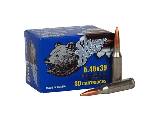 Silver Bear 5.45x39mm - 60gr FMJ - 750 Round Case