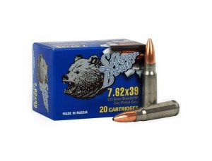 Silver Bear 7.62x39mm - 123gr JHP - 500 Round Case