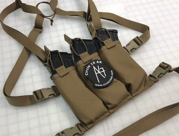 Circle 10 AK 3 Cell Chest Rig w/ Map Pouch