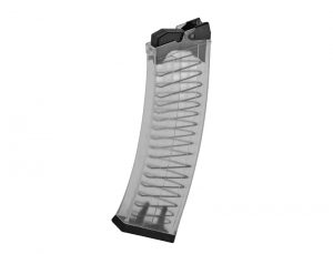 SDS Imports Clear Saiga 12 Style Magazine - 10 Rounds - 12 Gauge