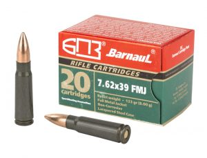 Barnaul Ammunition 7.62x39mm 124gr FMJ - 20 Round Box