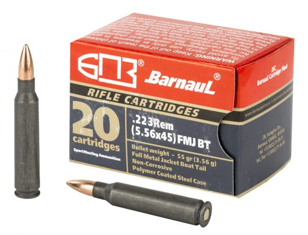 Barnaul .223 Remington - 55gr FMJ - 20rnd Box