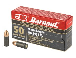 Barnaul 9x19mm - 115gr FMJ - 50rnd Box
