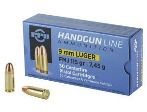PPU 9x19mm - 115gr FMJ - 50nd Box