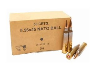 Lithuanian 5.56x45mm NATO - SS109 62gr FMJ - 50rnd Box