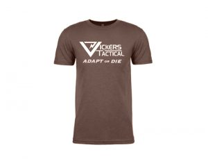 "Vickers Tactical T-Shirt ""Adapt or Die"" - Espresso"